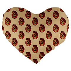 Vintage Halloween 19  Premium Heart Shape Cushion