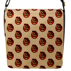 Vintage Halloween Flap closure messenger bag (Small)