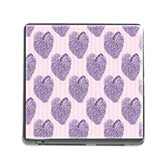 Vintage Heart Memory Card Reader with Storage (Square)