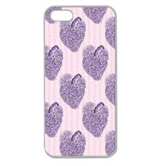 Vintage Heart Apple Seamless iPhone 5 Case (Clear)