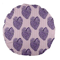 Vintage Heart 18  Premium Round Cushion