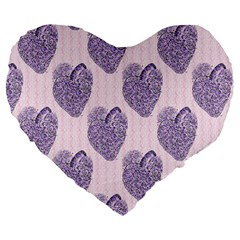 Vintage Heart 19  Premium Heart Shape Cushion