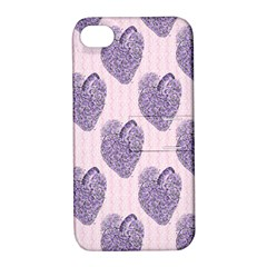 Vintage Heart Apple iPhone 4/4S Hardshell Case with Stand
