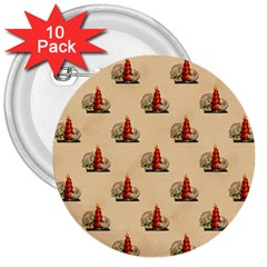 Vintage Kitty 3  Button (10 pack)