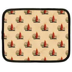 Vintage Kitty Netbook Case (Large)