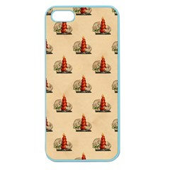 Vintage Kitty Apple Seamless iPhone 5 Case (Color)