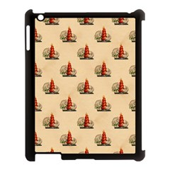 Vintage Kitty Apple iPad 3/4 Case (Black)