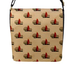 Vintage Kitty Flap Closure Messenger Bag (Large)