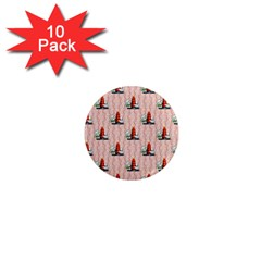 Vintage Kitty 1  Mini Button Magnet (10 pack)