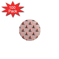 Vintage Kitty 1  Mini Button Magnet (100 pack)