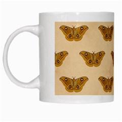 Vintage Moth White Coffee Mug