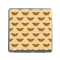 Vintage Moth Memory Card Reader with Storage (Square)