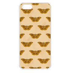 Vintage Moth Apple iPhone 5 Seamless Case (White)