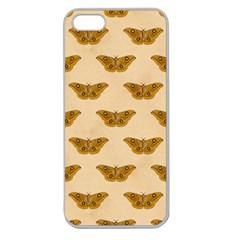Vintage Moth Apple Seamless iPhone 5 Case (Clear)