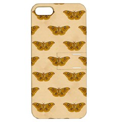 Vintage Moth Apple iPhone 5 Hardshell Case with Stand
