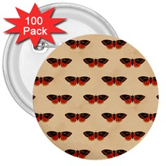 Vintage Moth 3  Button (100 pack)