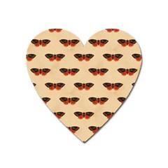Vintage Moth Magnet (Heart)