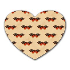 Vintage Moth Mouse Pad (Heart)