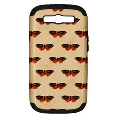 Vintage Moth Samsung Galaxy S III Hardshell Case (PC+Silicone)