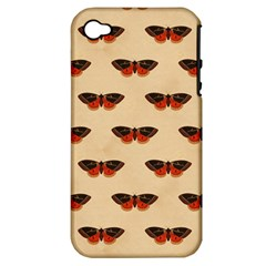 Vintage Moth Apple iPhone 4/4S Hardshell Case (PC+Silicone)