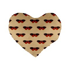 Vintage Moth 16  Premium Heart Shape Cushion