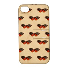 Vintage Moth Apple iPhone 4/4S Hardshell Case with Stand