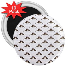 Vintage Vulture 3  Button Magnet (10 pack)