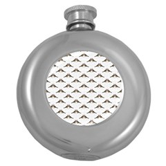 Vintage Vulture Hip Flask (Round)