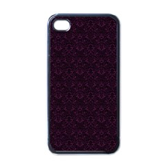 Vintage Wallpaper Apple iPhone 4 Case (Black)