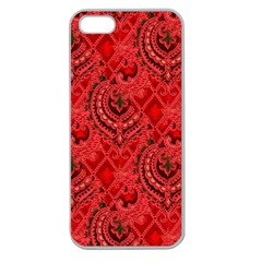 Vintage Wallpaper Apple Seamless iPhone 5 Case (Clear)