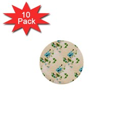 Vintage Wallpaper 1  Mini Button (10 pack)