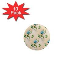 Vintage Wallpaper 1  Mini Button Magnet (10 pack)