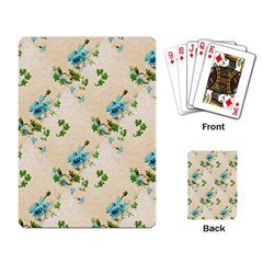 Vintage Wallpaper Playing Cards Single Design