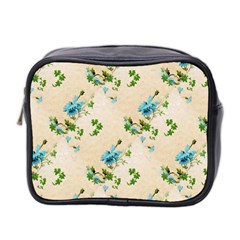 Vintage Wallpaper Mini Travel Toiletry Bag (Two Sides)