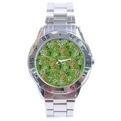 Vintage Wallpaper Stainless Steel Watch (Men s)