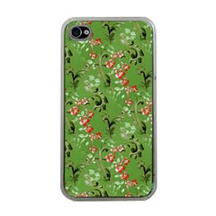 Vintage Wallpaper Apple iPhone 4 Case (Clear)