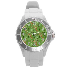 Vintage Wallpaper Plastic Sport Watch (Large)