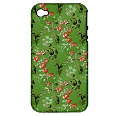 Vintage Wallpaper Apple iPhone 4/4S Hardshell Case (PC+Silicone)