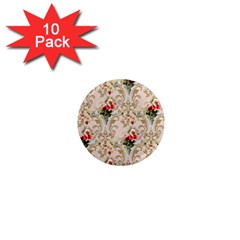 Vintage Wallpaper 1  Mini Button Magnet (10 pack)