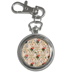 Vintage Wallpaper Key Chain & Watch