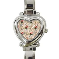 Vintage Wallpaper Heart Italian Charm Watch