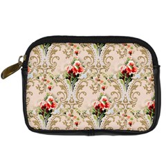 Vintage Wallpaper Digital Camera Leather Case