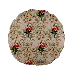 Vintage Wallpaper 15  Premium Round Cushion