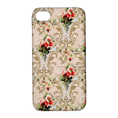 Vintage Wallpaper Apple iPhone 4/4S Hardshell Case with Stand