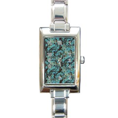 Vintage Wallpaper Rectangular Italian Charm Watch