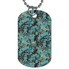 Vintage Wallpaper Dog Tag (Two Sided)