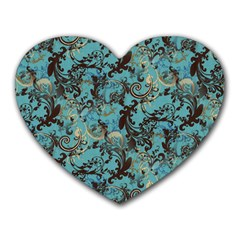 Vintage Wallpaper Mouse Pad (Heart)