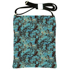 Vintage Wallpaper Shoulder Sling Bag