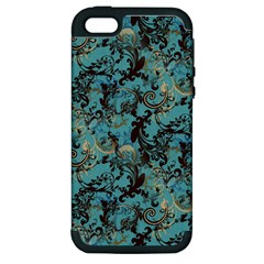 Vintage Wallpaper Apple iPhone 5 Hardshell Case (PC+Silicone)