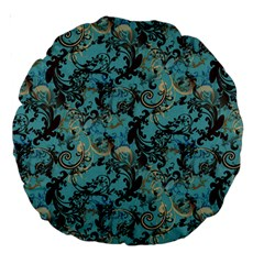 Vintage Wallpaper 18  Premium Round Cushion